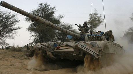 FILE PHOTO: An Indian army tank moves during an army exercise © B Mathur
