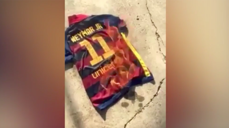 Burning bridges - Barcelona fans set fire to Neymar shirts after PSG exit