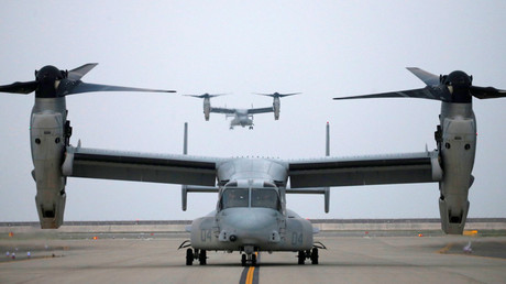 FILE PHOTO U.S. MV-22 Osprey aircrafts © Carlos Barria