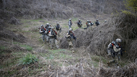FILE PHOTO U.S. army soldiers take part in U.S.-South Korea joint river-crossing exercise near demilitarized zone separating two Koreas in Yeoncheon © Kim Hong-Ji