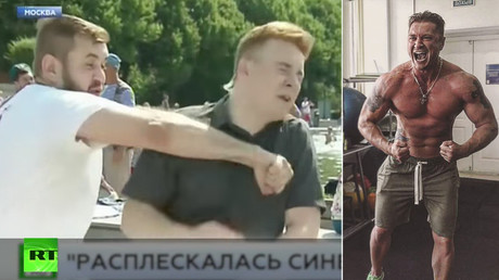 Russian sports journalist calls out thug who punched reporter on live TV