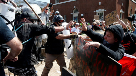 White supremacists clash with counter protesters at a rally in Charlottesville, Virginia, US August 12, 2017 © Joshua Roberts