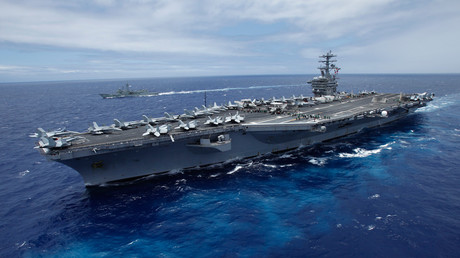 The USS Nimitz, a nuclear-powered aircraft carrier © Hugh Gentry