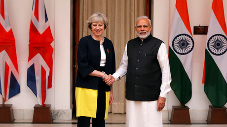 Britain's Prime Minister Theresa May and India's Prime Minister Narendra Modi © Adnan Abidi