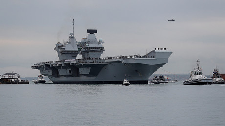 Britain's new aircraft carrier enters service amid controversy and criticism (VIDEO)