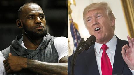 NBA player Lebron James and US President Donald Trump © Global Look Press