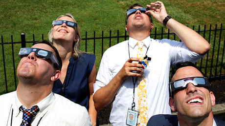 Solar eclipse drives American social media bananas
