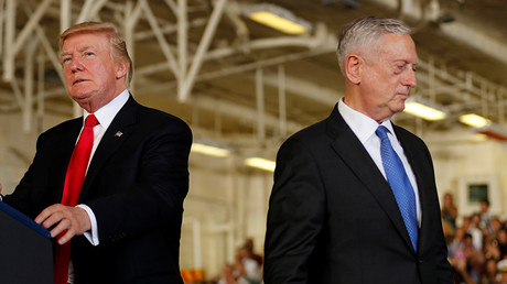 U.S. President Donald Trump (L),  Defense Secretary James Mattis (R) © Jonathan Ernst