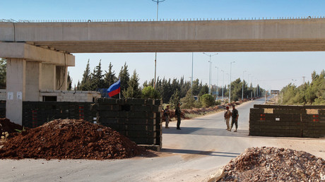 The Homs-Hama highway in the Homs forces placement area opened for civilian transport for the first time in five years after the Russian military police checkpoints started operating in Ar-Rastan. © Mikhail Alaeddin