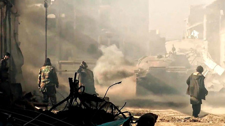 Islamic State video showing militants with a tank in an area described as Wilayah al-Khayr near Deir ez-Zor, Syria, January 13, 2016 © ZUMA Press / Global Look Press