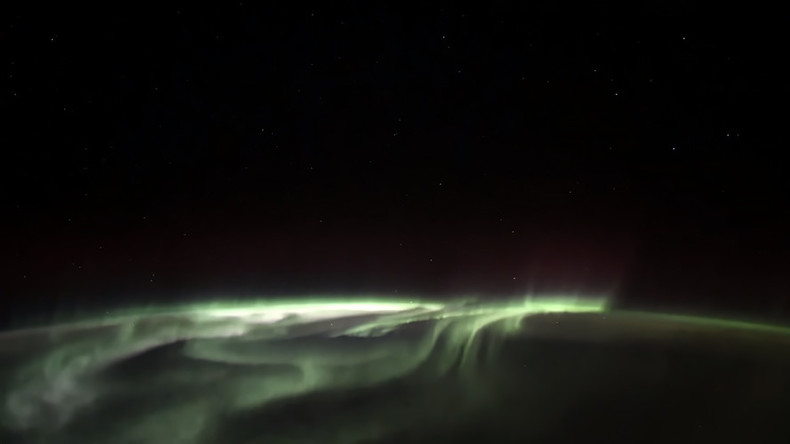 Russian cosmonaut shares breathtaking views of polar lights & Earth's landmarks (VIDEO, PHOTOS)