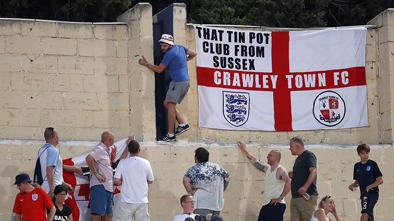 Man of his word: Football fan invades pitch at Malta v England after 400 retweets