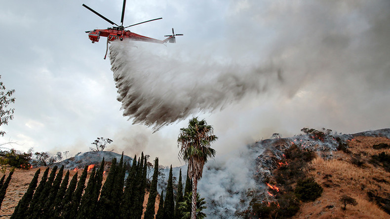 LA wildfire biggest in city's history, now spans 5,895 acres (PHOTOS, VIDEOS)