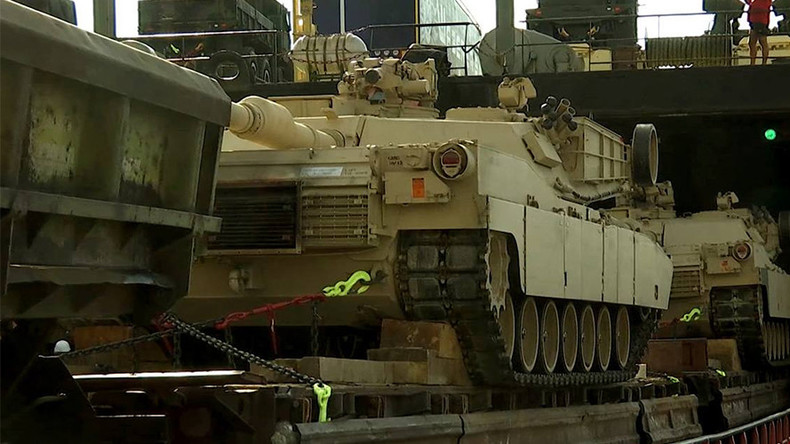 M1 Abrams tanks, heavy armor arrive in Georgian port for Agile Spirit drills (VIDEO)
