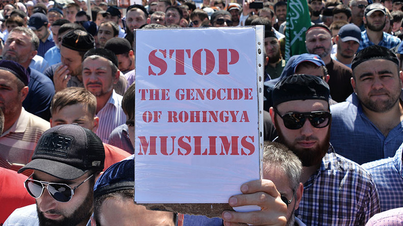 Million protesters in Chechnya decry persecution of Myanmar Rohingya Muslims (PHOTO, VIDEO)