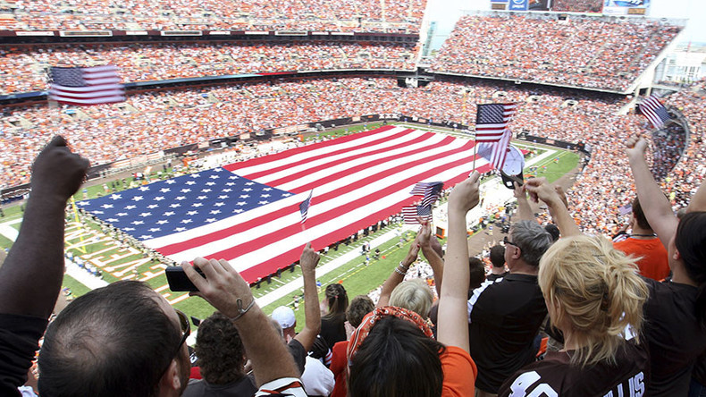 Cleveland police refuse to hold flag at NFL season opening game after players' anthem protest