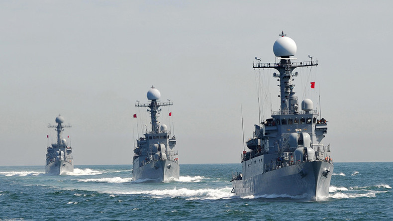 S. Korea holds massive live-fire naval drills 'to hit back & bury enemy' in case of provocation