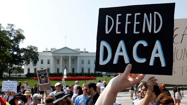 States threaten to sue over DACA, as Trump tweets he'll 'revisit' policy if Congress doesn't act