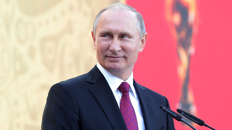 Putin Pitchside: Russian president kicks off longest World Cup Trophy Tour in history in Moscow