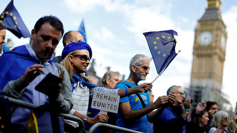 'Exit from Brexit': Protesters march in London to demand U-turn on EU withdrawal (VIDEO)