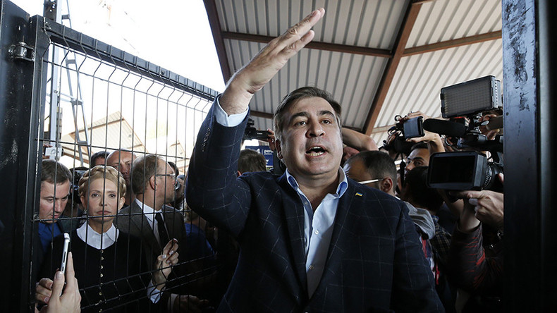 Ukraine police open criminal case after former Georgian leader Saakashvili breaks through border