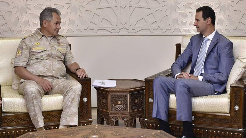 Russian Defense Minister met Assad in Damascus, discussed military operations in Syria