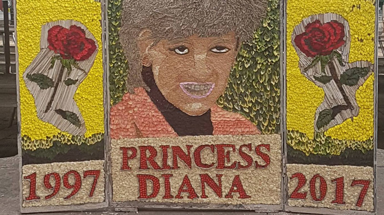 Chesterfield floral tribute to Princess Diana freaks out internet (PHOTOS)
