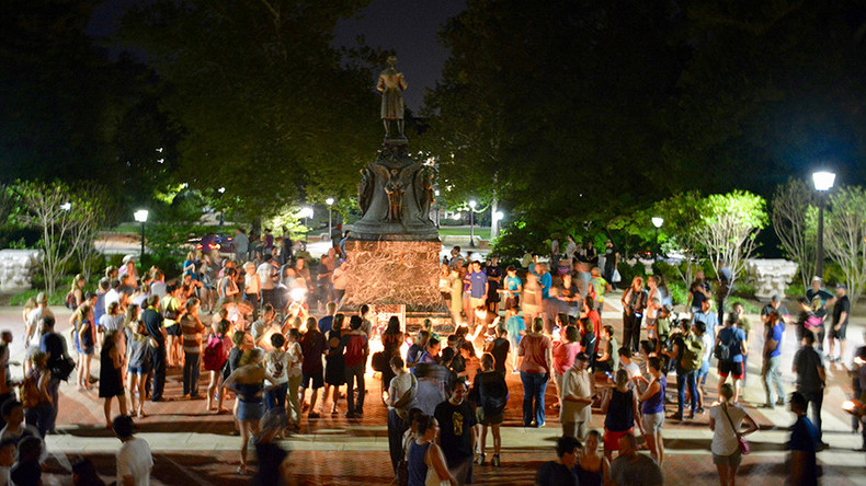 Charlottesville activists target founder Jefferson
