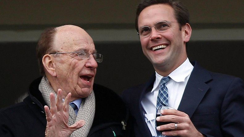 A Murdoch interfering in British politics? James claims the UK needs Fox's Sky takeover