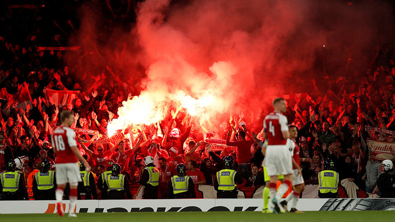 'We're back': German fans invade English stadium after 25-year Europe absence