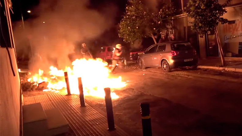 Petrol bombs & tear gas in Athens at anniversary of Antifa rapper's murder (VIDEO)