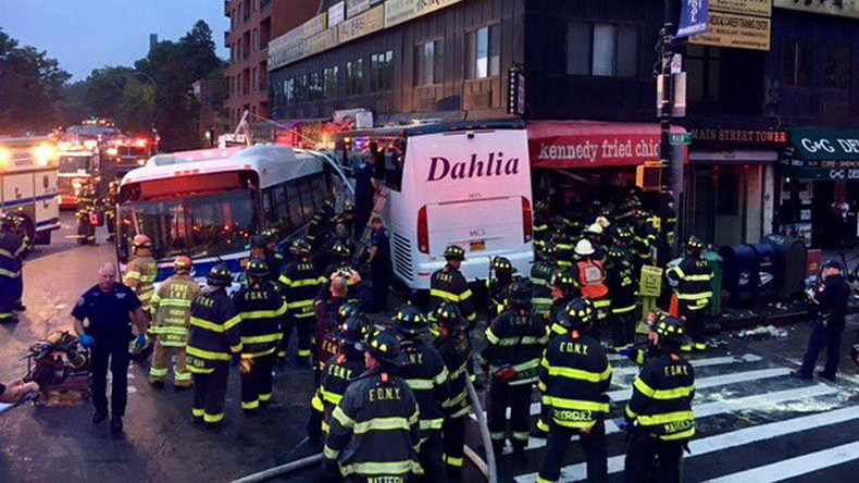 3 dead, 16 injured in Queens bus crash