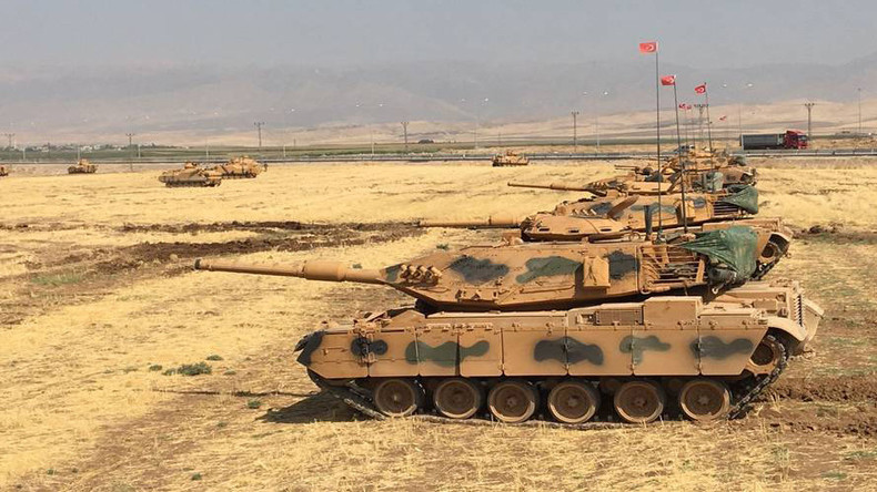 Tanks & howitzers: Turkish Army stages massive drills on Iraqi border (VIDEO, PHOTOS)