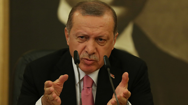 Erdogan slams US for 'arming terrorists' after Washington cancels $1.2mn Turkey weapons deal