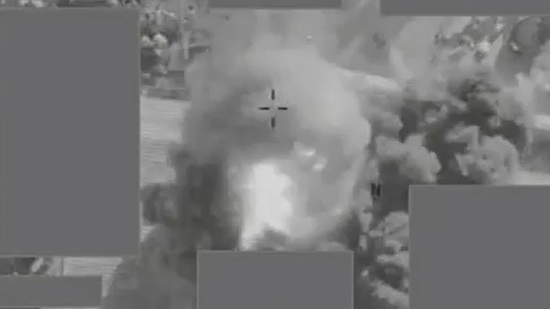 UK military shows off footage of drone strike on ISIS that caused 'civilian injuries' (VIDEO)