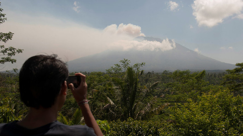 Thousands evacuated as Bali volcano spews ominous smoke 3,000 meters high