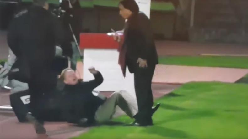 'I kicked his ass - it felt good!' Swiss football president viciously attacks TV commentator (VIDEO)