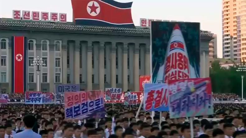 N. Korean rally in Pyongyang denounces Trump (VIDEO)
