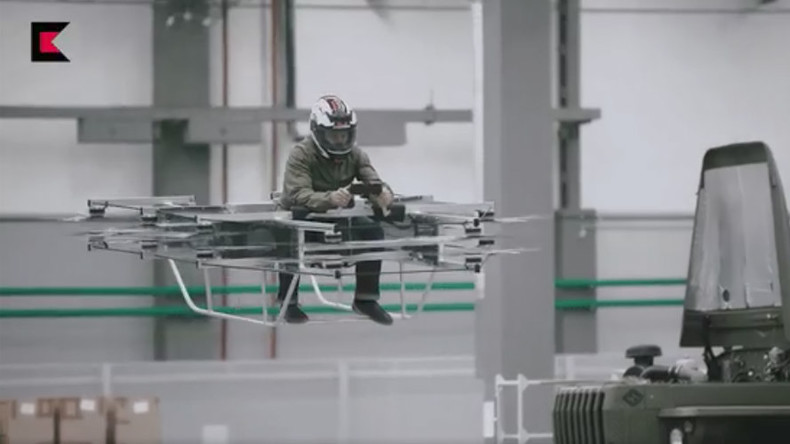 Troops on flying cars? Futuristic manned 'copter' tested by Russian arms producer (VIDEO)