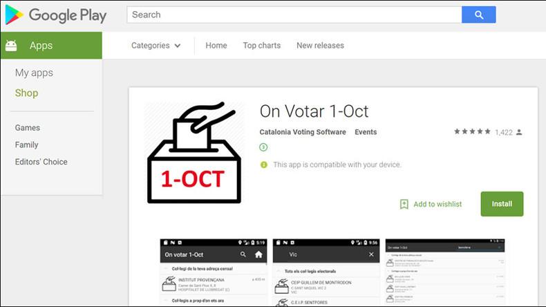 Google blocks Catalan independence info app following