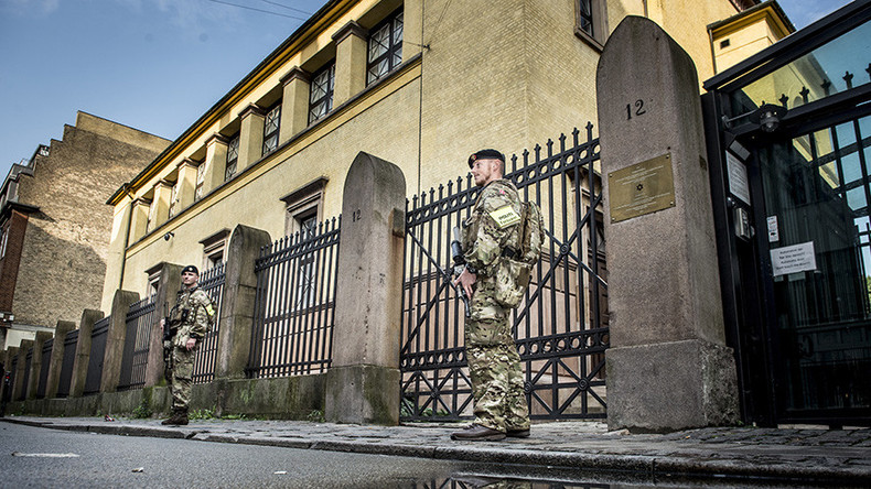 Denmark deploys armed troops on streets, German border to help police