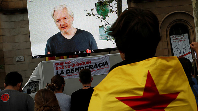 Assange accuses Spain of conducting 'world's first internet war' to shut down Catalan referendum