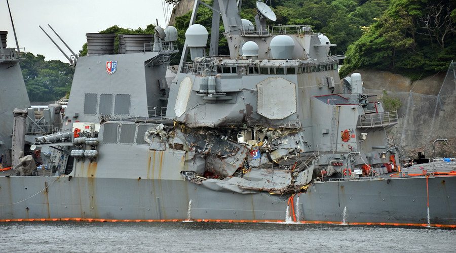 Collision that killed 10 US sailors caused by warship's mistaken maneuver – official probe