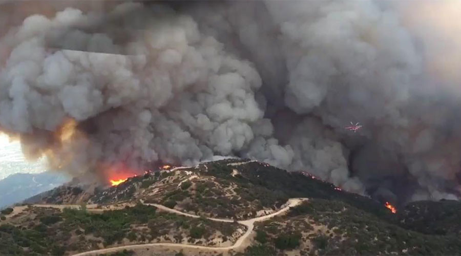 Wildfire burns 5,000 acres, forces hundreds of evacuations in California (PHOTOS, VIDEOS)
