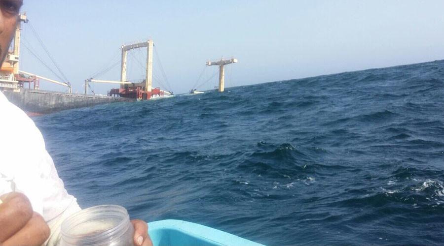 Cargo ship sinks in Arabian Sea en route from UAE, 20 sailors rescued (PHOTOS)