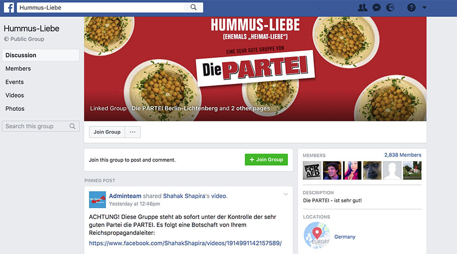 Sharia v Shakira: German satirical political party trolls right-wing AfD on Facebook