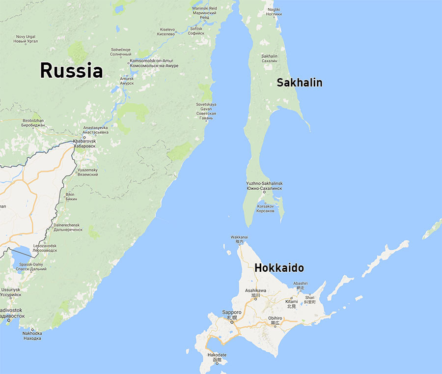 Sakhalin Island Road Map