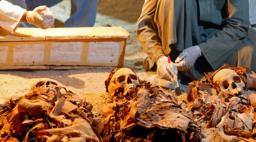 The mummy returns: Ancient remains found in 'empty' coffin stored for 150 years (PHOTOS)