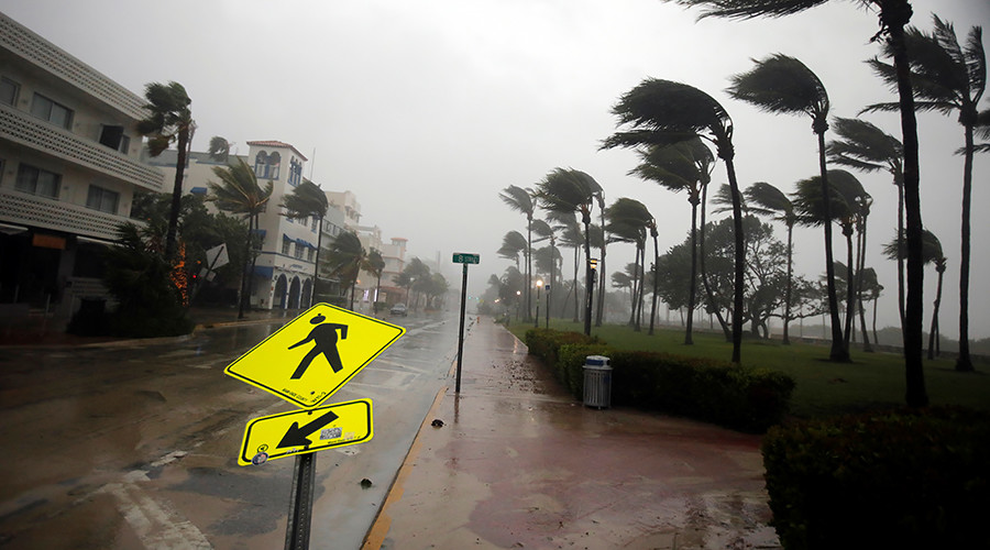 Stormchasers ignore dire storm warnings to measure Hurricane Irma windspeed (VIDEO)