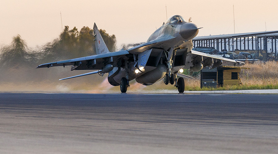 Modernized Russian MiG29 fighter jet spotted in Syria for 1st time (VIDEO, PHOTO)